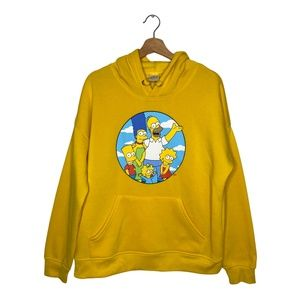 The Simpsons Family Pullover Hoodie Sweater Yellow
